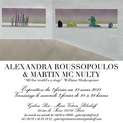 All the World's a Stage Exposition Alexandra Roussopoulos, Martin Mc Nulty, Galerie Marie Victoire Poliakoff